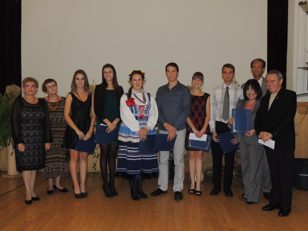 2013 Polonia Centre Academic Awards Recipients