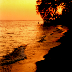 Polish Beach sunset scene in Colchester, Lake Erie - Essex, ON