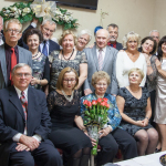 The members of the Club in 2013. Sitting in the middle with flowers, the former President and cofounder of the Club - Mrs.  Idalia Rappe. She is celebrating a milestone birthday.