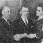 Picture printed in the Windsor Star showing directors of the newly formed Branch of Canadian Polish Congress in Windsor. First from the left: Cat. Zbigiew Giera – the founder and the first president of the Social Club in 50's.and 60's and the leader in many local initiatives.