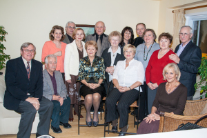 Polish Social Club of Windsor members. Standing in the middle on left the current President Alina Jaworska-Sobiesiak, in the middle on the right former President and cofounder of the Club Idalia Rappe.
