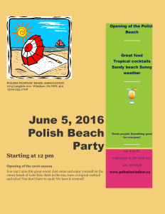 Polish Beach party flyer -website