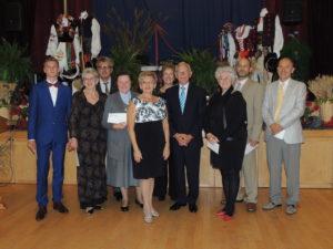 From Left to Right: M. Zalewski (Polskie Nadzieje; B. Koczwara (Tatry); R. Sak (Polonia Sports); Sr. A. Fidor (Polish School); H. Roznawski (MC); J. Dalton (Leddy Library); G. Koski (President PC); K. Pope (Public Library); T. Blonka (Wisla); Dr. Z. Pona (PCBPA)